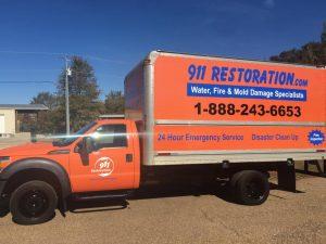 Water Damage Restoration Truck
